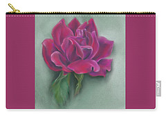 Carry-all Pouch featuring the photograph Lush Red Rose by MM Anderson