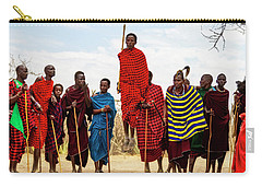 Carry-all Pouch featuring the photograph Maasai Jumping Dance by Kay Brewer