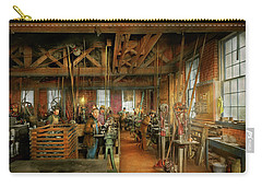 Carry-all Pouch featuring the photograph Machinist - The Glazier Stove Company 1900 by Mike Savad