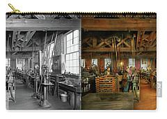 Carry-all Pouch featuring the photograph Machinist - The Glazier Stove Company 1900 - Side By Side by Mike Savad