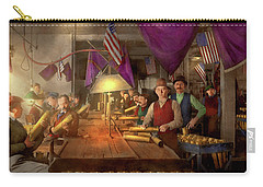 Carry-all Pouch featuring the photograph Machinist - War - Meanwhile In The Bomb Factory 1912 by Mike Savad