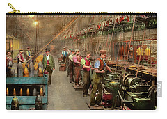 Carry-all Pouch featuring the photograph Machinist - War - The Shell Dept 1900 by Mike Savad