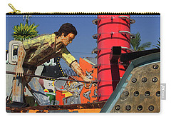Carry-all Pouch featuring the photograph Mack The Knife by Skip Hunt