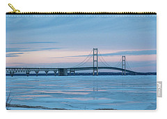 Mackinac Bridge In Ice 2161803 Carry-all Pouch