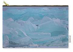 Carry-all Pouch featuring the photograph Mackinaw City Ice Formations 21618010 by Rick Veldman