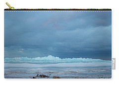 Carry-all Pouch featuring the photograph Mackinaw City Ice Formations 21618011 by Rick Veldman