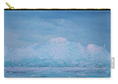 Carry-all Pouch featuring the photograph Mackinaw City Ice Formations 2161802 by Rick Veldman