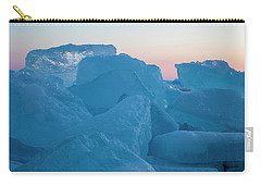 Carry-all Pouch featuring the photograph Mackinaw City Ice Formations 2161804 by Rick Veldman