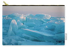 Carry-all Pouch featuring the photograph Mackinaw City Ice Formations 2161807 by Rick Veldman