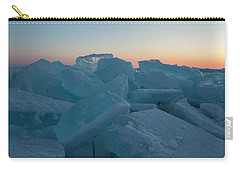 Carry-all Pouch featuring the photograph Mackinaw City Ice Formations 2161808 by Rick Veldman