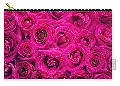 Magenta Roses Carry-all Pouch