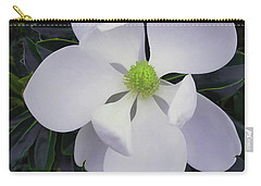 Carry-all Pouch featuring the painting Magnolia Flower Photo F9718 by Mas Art Studio