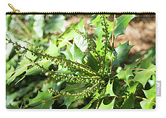 Carry-all Pouch featuring the photograph Mahonia Buds And Leaves by MM Anderson