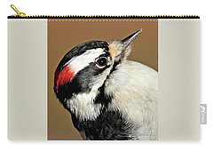 Male Downy Woodpecker Carry-all Pouch