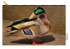 Carry-all Pouch featuring the painting Male Mallard - Painted by Ericamaxine Price
