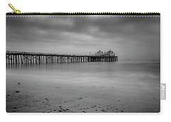 Carry-all Pouch featuring the photograph Malibu Pier by John Rodrigues