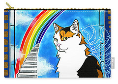Mama Turtle - Cat Painting Carry-all Pouch