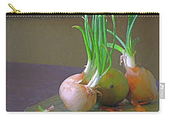 Carry-all Pouch featuring the mixed media Mango At Rest  by Lynda Lehmann