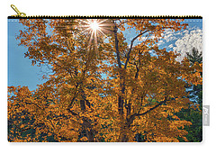 Carry-all Pouch featuring the photograph Maple Tree In Full Autumn Glory by Rick Berk