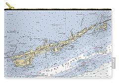 Marathon And Duck Keys Custom Noaa Nautical Chart Carry-all Pouch