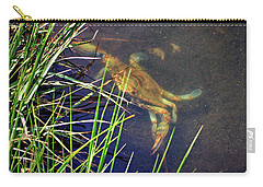 Carry-all Pouch featuring the photograph Maryland Blue Crab Lurking In An Assateague Marsh by Bill Swartwout Fine Art Photography