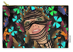 Mask Of Butterflies And Bondage Carry-all Pouch