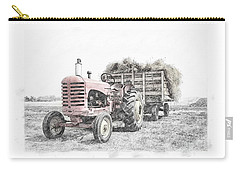 Carry-all Pouch featuring the photograph Massey Harris by Brad Allen Fine Art