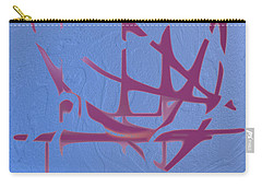 Mauve On Blue Texture Carry-all Pouch