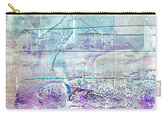 Mermaid Dream - Bright Pastel Tone Purple And White Abstract Art Carry-all Pouch
