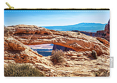 Carry-all Pouch featuring the photograph Mesa Arch by Andy Crawford