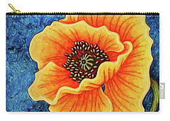 Carry-all Pouch featuring the painting Midnight Flame by Amy E Fraser