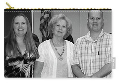 Carry-all Pouch featuring the photograph Mike's Family by Angela Murdock