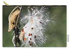 Carry-all Pouch featuring the photograph Milkweed Explosion by Steven Ralser