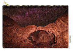 Carry-all Pouch featuring the photograph Milky Way Over Double Arch by Andy Crawford