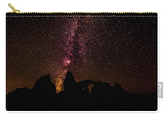 Carry-all Pouch featuring the photograph Milky Way Over Turret Arch by Andy Crawford