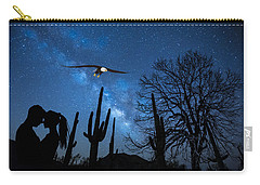 Carry-all Pouch featuring the digital art Milky Way Proposal by Ericamaxine Price