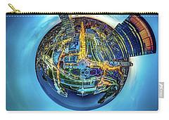 Carry-all Pouch featuring the photograph Milwaukee At Dusk Little Planet by Randy Scherkenbach