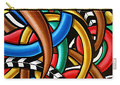 Carry-all Pouch featuring the painting Mind Games - Abstract Art Painting - Intuitive Energy Art - Ai P. Nilson by Ai P Nilson