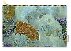 Carry-all Pouch featuring the mixed media Mineral Medley 12 by Lynda Lehmann