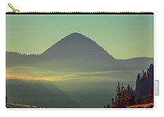 Carry-all Pouch featuring the photograph Misty Mountain Morning by Pete Federico
