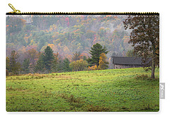 Carry-all Pouch featuring the photograph Misty New England Autumn by Bill Wakeley