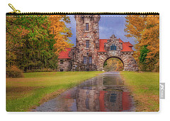 Carry-all Pouch featuring the photograph Mohonk Preserve Gatehouse  Ny Fall  by Susan Candelario