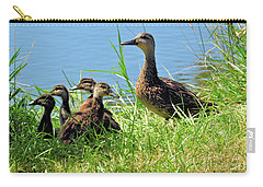 Mom And Baby Ducklings Carry-all Pouch