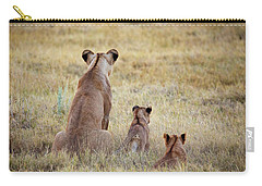 Mom And Cubs Carry-all Pouch