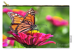 Monarch Visiting Zinnia Carry-all Pouch