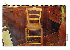 Carry-all Pouch featuring the photograph Monet's Art Studio Chair by Craig J Satterlee