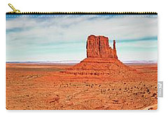 Carry-all Pouch featuring the photograph Monument Valley Panorama by Andy Crawford