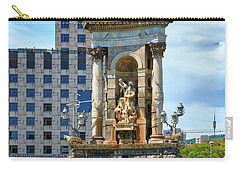 Carry-all Pouch featuring the photograph Monumental Fountain In Barcelona by Eduardo Jose Accorinti