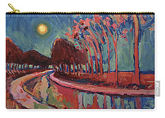 Moon Night At The Canal Carry-all Pouch