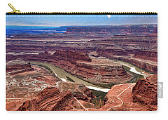 Carry-all Pouch featuring the photograph Moon Over Deadhorse Point by Andy Crawford